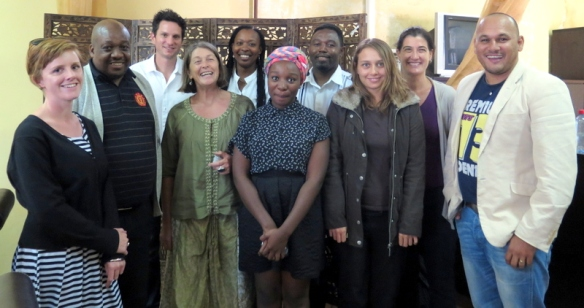 The Eastern Cape Maritime Oral History Project group with SAHRA CEO, Peter Mokwena