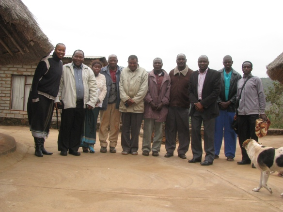 Me, Ramudingane, Queen (Nemakonde's colleague), 5th from the left is Chief Netshiavha,
