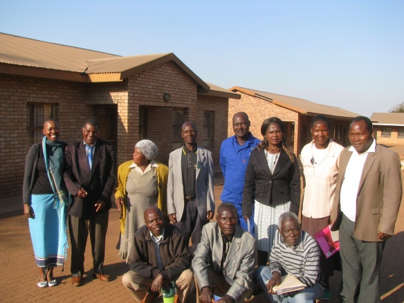 Me, Chief Netshiavha, members of the Lake Fundudzi steering committee, ward councillors, Ramudingane